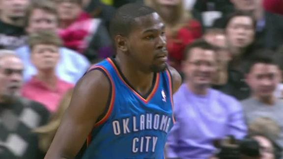 Durant, Thunder halt Blazers' home win streak