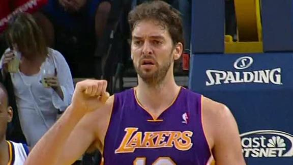 Gasol to come off bench in return vs. Heat