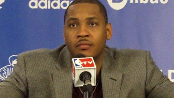 Video - Carmelo Anthony On Knicks' Win