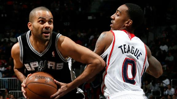 Video - Parker Lifts Spurs To Win Against Hawks