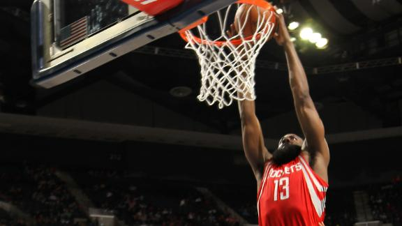 Rockets rally behind Harden, end 7-game skid