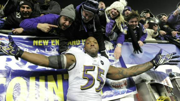 Ravens' Terrell Suggs is one sore winner
