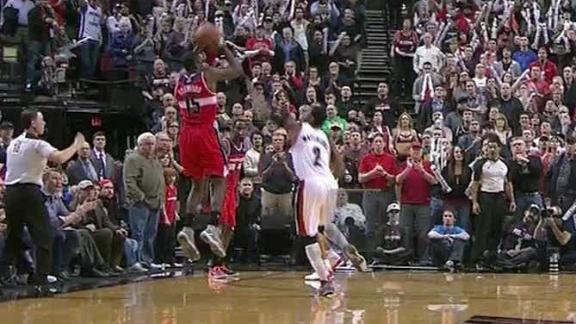 Video - Buzzer-Beater Lifts Wizards Past Blazers