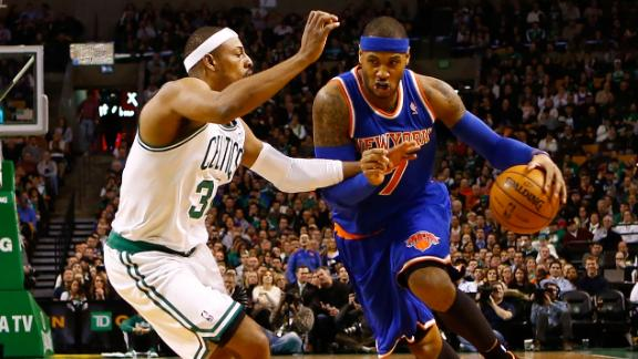 Video - Melo, Knicks Hand Celtics Fifth Straight Loss