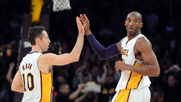 Kobe, Nash take over as Lakers top Thunder