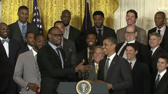 Video - Obama Honors Heat At White House