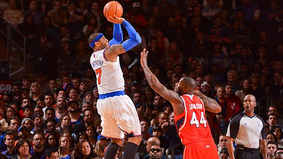 Anthony sets Knicks record in win over Magic