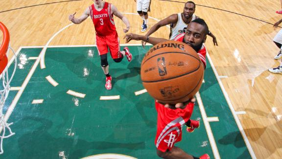 Video - Harden Scores 25 As Rockets Rout Jazz