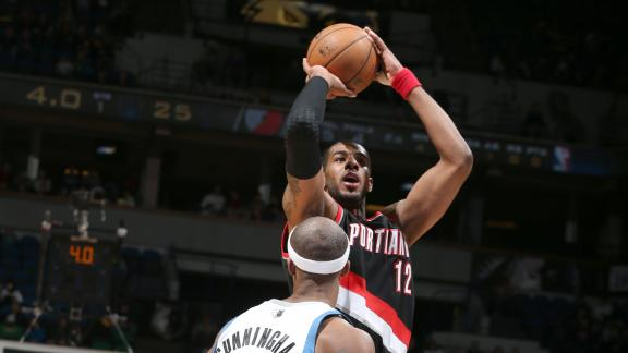 Blazers avoid late collapse against Wolves