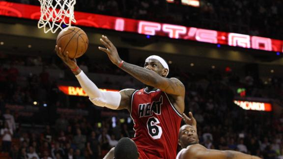 LeBron has 31 points as Heat beat back Bobcats