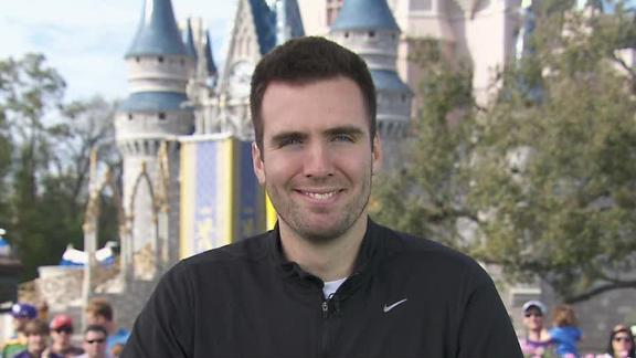 Video - Flacco Celebrates At Disney