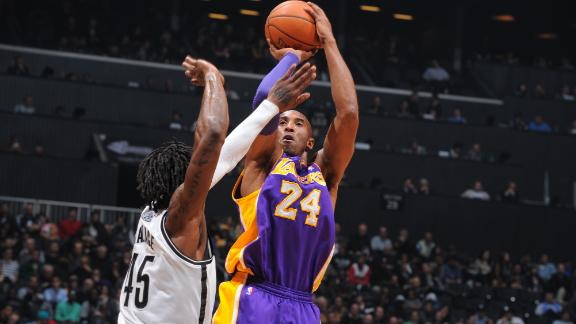 Video - Kobe, Short-Handed Lakers Top Nets