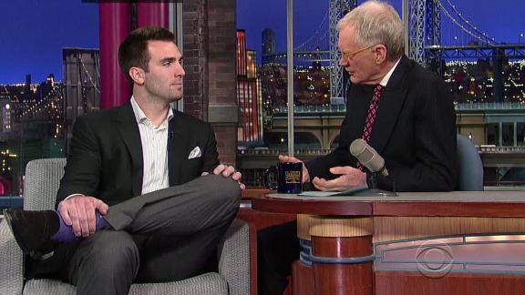 Joe Flacco ends busy day on Letterman