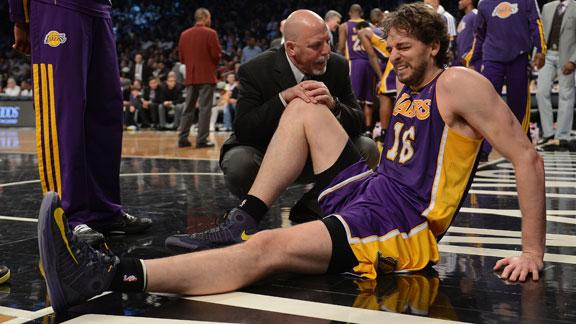 Specialist: Lakers' Gasol likely out 6-8 weeks