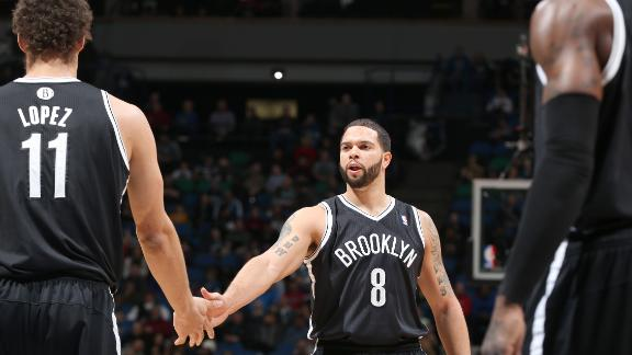 Lopez-led Nets win first