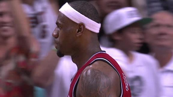 NBA -- Miami Heat's LeBron James continues his red-hot shooting…