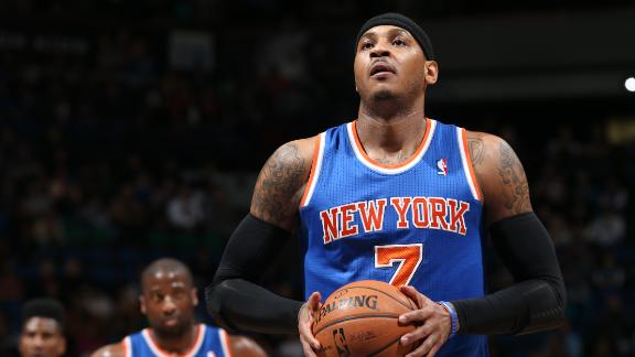Melo rallies Knicks by Wolves down stretch