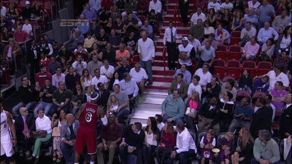 Video - LeBron Passes To A Fan