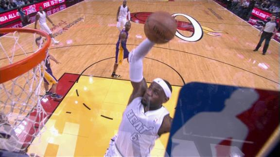 Video - LeBron Finishes Strong with the Dunk