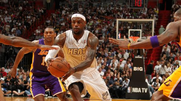Video - LeBron, Heat Battle Past Lakers