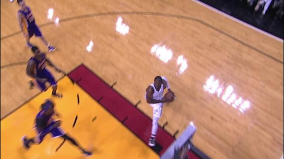 Video - Wade Reverse Dunk Puts Heat Up By 3