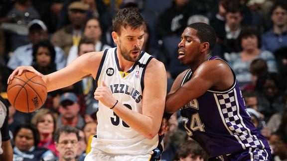 Video - Gasol's Double-Double Lifts Grizzlies Past Kings