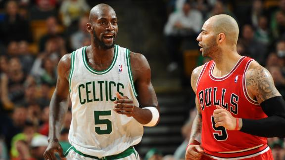 Garnett, Celts edge Bulls in defensive struggle