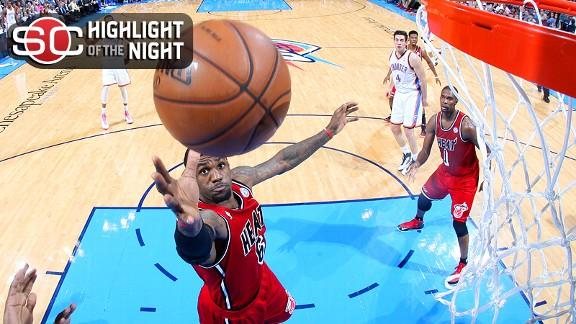 Heat trample Thunder as LeBron's streak ends
