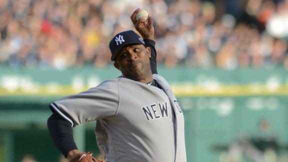 Sabathia throws off mound, says he feels good