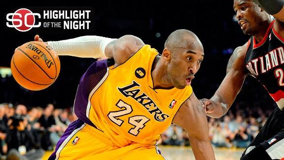 Kobe has 40 as L.A. grinds out win vs. Blazers