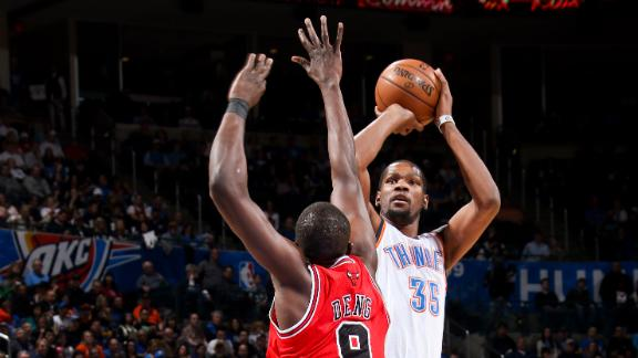 Thunder roll, hold Bulls to 29.1 percent shooting