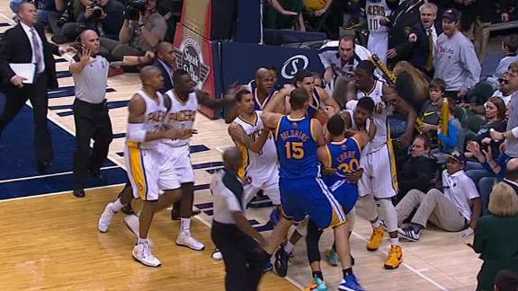 Video - Pacers And Warriors Fight