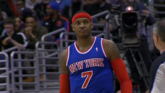 Anthony scores 30 in Knicks' win over Wizards