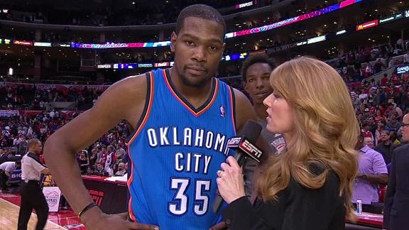 Durant, Thunder hold off Clippers' rally attempt