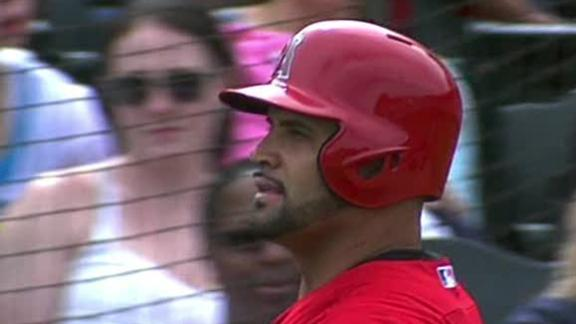 Video - Albert Pujols Makes Spring Debut