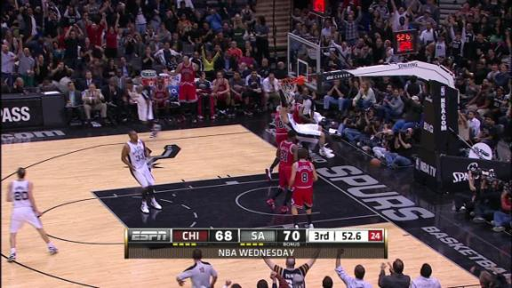 Video - Splitter's dunk puts Spurs up 4