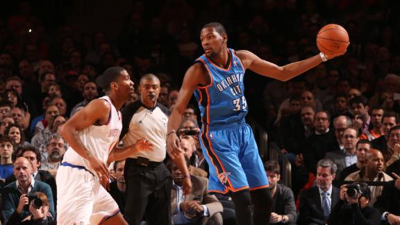 Thunder survive Smith's 36 to edge Knicks
