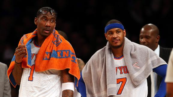Melo, Amar'e questionable with knee injuries