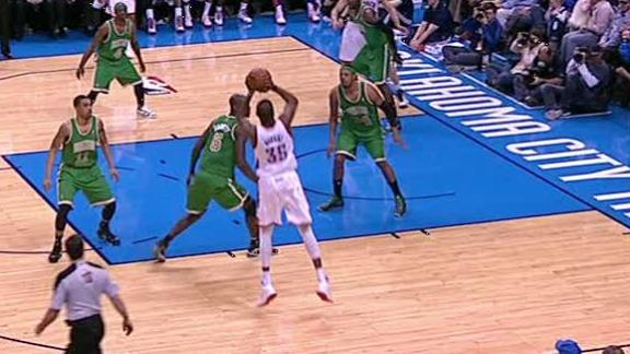 Video - Kevin Durant Crosses Up Kevin Garnett