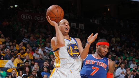Video - Curry, Warriors Rout Knicks