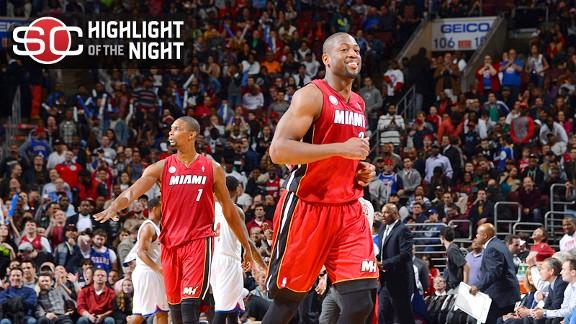 Video - Heat Hold On For 20th Straight Win