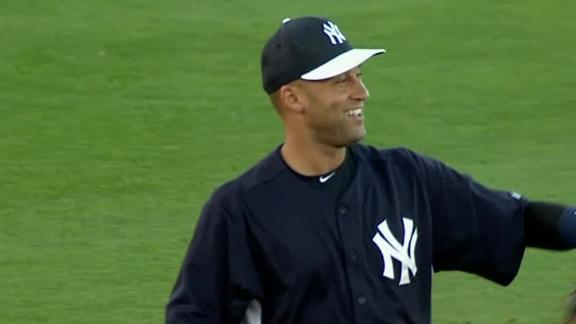 Video - Derek Jeter Makes Return To Field