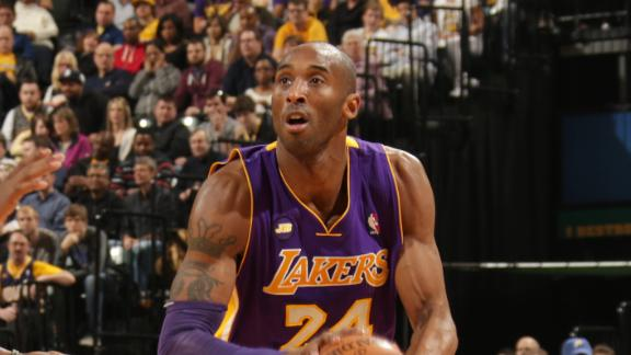 Kobe plays only 12 minutes, but Lakers still win