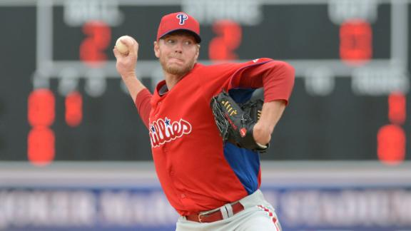 Halladay leaves after one inning with stomach virus