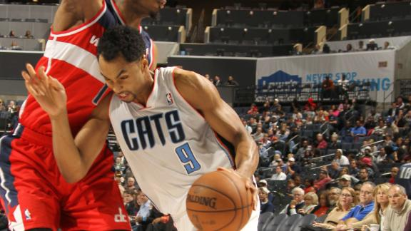 Bobcats' late push ends Wizards' win streak