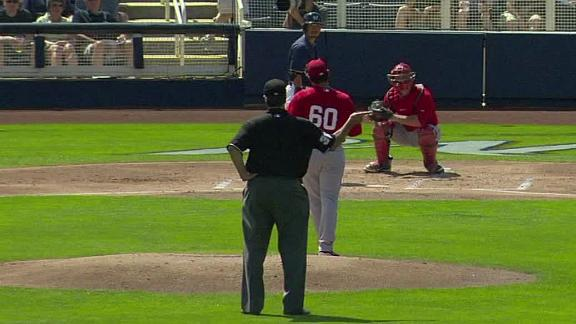 Video - Ump Calls Pitches Behind Mound In Spring Game