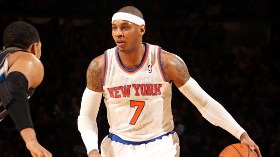 Melo returns, scores 21 in Knicks' win vs. Magic