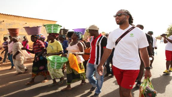 Video - Larry Fitzgerald Visits Samecouta, Senegal