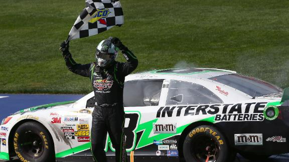 Kyle Busch Withstands Wreck To Win At California