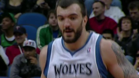 Pekovic batters Celtics as Wolves triumph